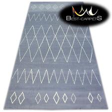 "MODERN DESIGNS & CHEAP BCF RUGS grey DIAMONDS ""BASE""  4 SIZE Best-Carpets"