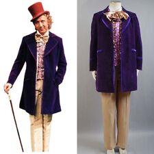 Willy Wonka and the Chocolate Factory Gene Wilder 1971 Cosplay Costume Uniform