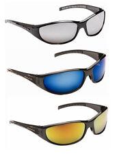 Para Hombre Wrap Around Biker Ski Negro Sombras Espejo Gafas De Sol Plata Naranja Azul Nuevo