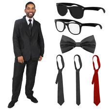 MENS BLACK SUIT COSTUME CHOICE FAMOUS FILM MOVIE CHARACTERS FANCY DRESS LOT