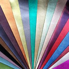 Metallic PU pelle tessuto FELTRO SOSTENUTO FOGLI a4 o a5 Glitter Fiocchi Capelli Lucenti