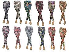 Womens Printed Colorful Stretch Slim Skinny Leggings Pants K7762 M/L to XL/XXL