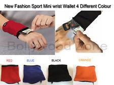 nouvelle mode sport Mini fermeture éclair poignet Porte-feuille 4 différent