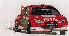 Richard Burns Rally car counted cross stitch kit or chart 14s aida