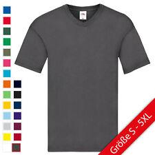 Fruit of the Loom Original V-Neck T Herren T-Shirt S 5XL NEU