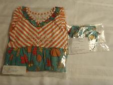 Eleanor Rose Pumpkin & Leaves Harper Dress Bea Headband Size 4 5 NIB