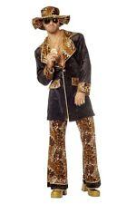 70er Jahre Zuhälter Kostüm Gangster Verkleidung 3-teiliges Pimp Kostüm
