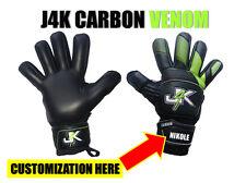 J4K CARBON VENOM FINGER SAVER GOALKEEPER GLOVE GOALIE KEEPER GK GLOVES SOCCER