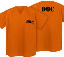 Prisoner Costume SHIRT ORANGE Convict DOC Shirts Halloween Costumes