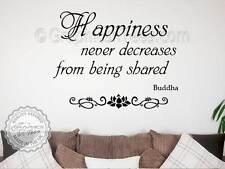 Bouddha d'inspiration cite, Autocollant Mural famille, de bonheur partagé, wall art