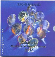 FINLANDIA DIVISIONALE 2002 BU FDC 8 monete + med. RARA - catalogo 90 euro