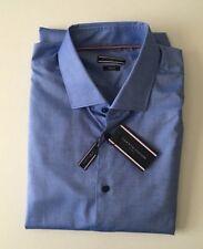 Tommy Hilfiger Long Sleeve PURE COTTON Cutaway Collar Shirt ~