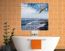 Sticker carrelage mural, faience,déco cuisine ou salle de bain Mouette réf 825