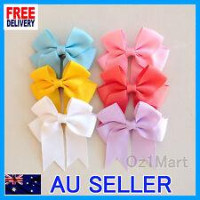 "24 Colors 3"" Hair Clip Alligator Baby Toddler Girls Grosgrain Ribbon Bow Kids"