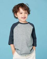 Rabbit Skins 3330 Toddler Fine Jersey 3/4 Sleeve Baseball T-Shirt 2-6T NEW, SALE