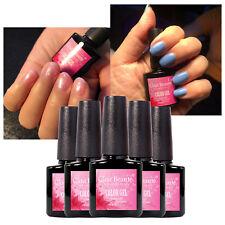 New Glittering Solid Colors Clou Beaute Uv Gel Nail Polish Matte Top Base Coat