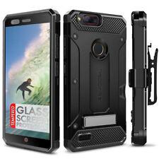 Evocel ZTE Blade Z Max Case, Kickstand, Card Slot, Glass & Holster (Z982)