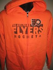 NHL Philadelphia Flyers Hockey Full Zip Hoody Hooded Sweatshirt Jacket Majestic