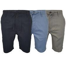Mens Linen Chino Shorts Threadbare Knee Length Half Pants Casual Summer Fashion