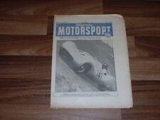 ILLUSTRIERTER MOTORSPORT 2.7.1953 Motorrennsport in DDR/CZ-Rennmaschine 125 OHC