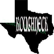 Texas Sil. with Roughneck vinyl decal/sticker truck car window TX oilfield