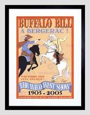 Ad WILD WEST SHOW Buffalo Bill BERGERAC francese Coup l'etrier ART PRINT b12x6098