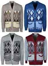 New Men's Classic V-Neck Button-Up Grandad Cardigan,Jumper  Knitwear S-5XL