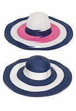 cappello donna righe rafia tesa larga piscina sole spiaggia tg unica 5b70acb88de9