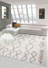 Noble Shaggy alfombra Flokati alfombra Patrón suave marroquí en crema