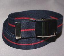 Navy Blue Red striped 30mm Webbing Belt Adults Boys Mens Womens kids xl xxl