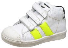 Momino 3132V coole Leder Sneakers Chucks gepolstert Unisex weiß Klett 22-32 Neu
