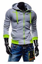 Casual Boys Womens Summer Slim Fit Hoody Hoodie Sweatshirt Sweater Coat Jacket