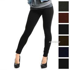 Girls Women Fur Fleece Lined Warm Cosy Soft Stretch Slim Fit Leggings Trousers