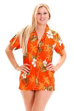 Funky Hawaiibluse Small Flower Orange versch. Größen Hawaiishirt