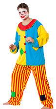 Herren Kostüm Horror Clown Killer Harlekin böser Clownkostüm Halloween