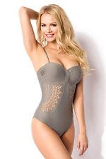 Sexy COSTUME INTERO GRIGIO PUSH UP taglia XS,S,M,L,XL,2XL  monokini GLAMOUR chic
