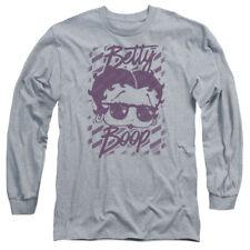 Betty Boop Summer Shades Mens Long Sleeve Shirt