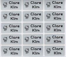 Medium Silver Personalised Name Stickers, Name Labels, 30x15mm, Waterproof