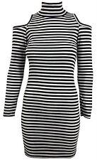New Womens Cut out Long Sleeve Bodycon Mini Dress 8-14