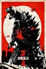 Godzilla - Movie Art Poster T176  A4 A3 A2 A1 A0 