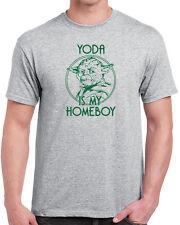 199 Yoda is my homeboy mens T-shirt star jedi wars geek sci fi force skywalker