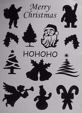14x Navidad Vinilo Calcomanía Pegatinas Santa Navidad Coche Pared Holly Angel 18 Colores