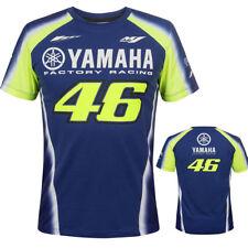 Valentino Rossi VR46 Azul Amarillo Blanco Yamaha Factory Racing Hombres Unisex T-Shirt