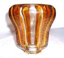 Kristall Vase mit Vergoldung Böhmen Haida F. Egermann