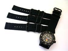 20mm Black 2pc NATO g10 UTC PVD Nylon Military Diver watch band strap IW SUISSE