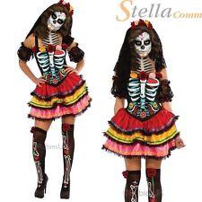 Day Of The Dead Senorita Costume Mexican Zombie Ladies Halloween Fancy Dress