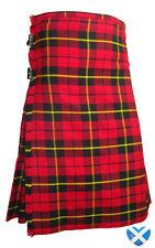 WALLACE TARTAN Men's 5 YARD KILT All Sizes 30 to 48 - BRAVEHEART 3M Highland
