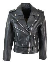 Blouson cuir perfecto femme style Brando biker motard couleur noire
