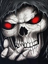 Big Skull d-127 t-shirt M L XL 2xl Biker streetwaer Red Eye Terminator Skull