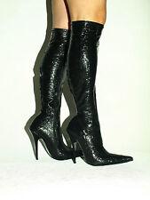 Latex Stiefel kniehoch  rot schwarz 36 37 38 39 40 41 42 43 44 45 46 *FS